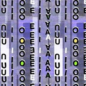 Vowels texture purple