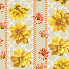 yellow and orange garden by Diane Gilbert
