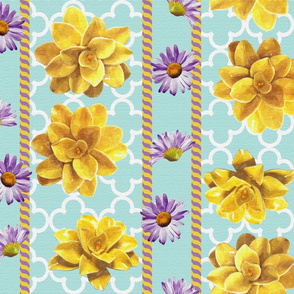 yellow and purple garden