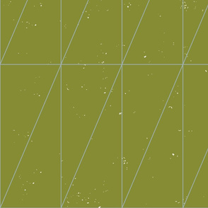 Grass Green Geo Triangles by Friztin