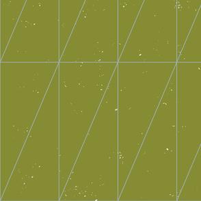 Grass Green Geo Triangles by Friztin