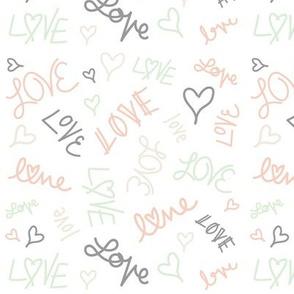 Love & Hearts Pastel