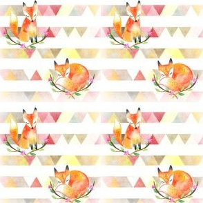 Sweet Little Foxes In Pink