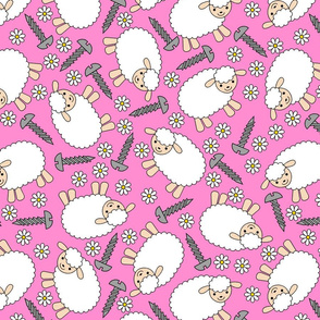 Screws and Ewes- pink large