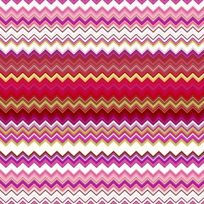 RASPBERRY AND MELON CHEVRON ZIG ZAG ZIGZAG 1