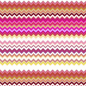 STRAWBERRY CHANTILLY AND BISCUIT ZIGZAG CHEVRON ZIGZAG