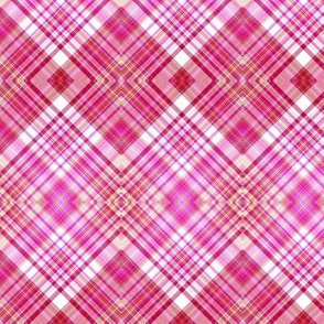 STRAWBERRY CHANTILLY BISCUIT DIAGONAL PLAID