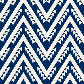 Navy chevron geometric