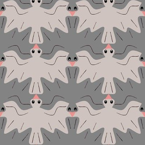 Tessellating Pigeons Neutral Pewter_Gray