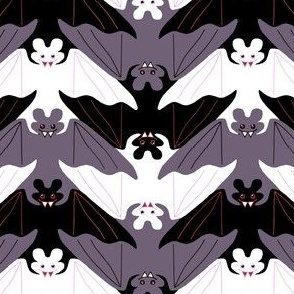 Cuddly Chevron Vampire Bats
