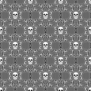 Skull flourish- large