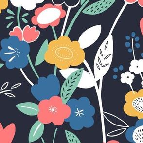 Wonderland Floral (Navy)