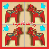 Swedish folk art Dalarna horses