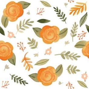 Peach Fleur - White