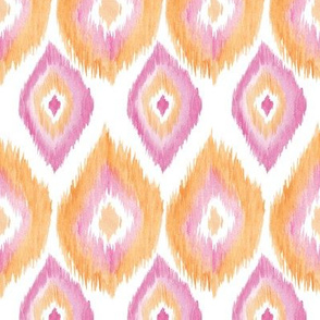 Watercolor Ikat Pattern
