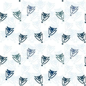 Space Age Pattern - Blue