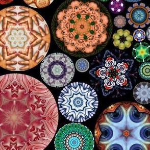 Kaleidoscope Circles II Black