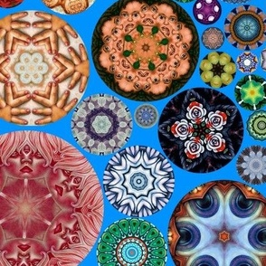 Kaleidoscope Circles II Blue