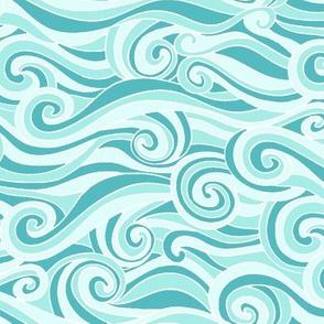 Ocean Waves Aqua