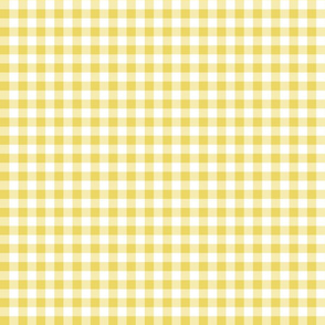 Mini Gingham Yellow