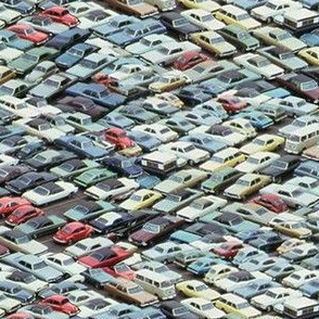 Dean's Parking Lot ~ Circa 1970
