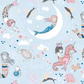 Mermaid Lullaby (blue) SMALL