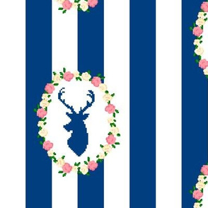 Navy Stag Wreath