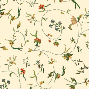 Cecile Embroidered Chintz  ~ Gypsophila