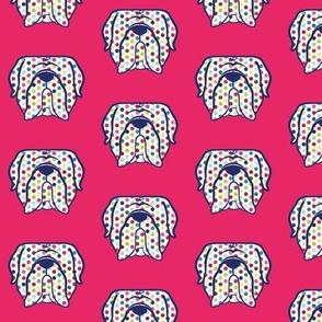 Mastiff polka dots