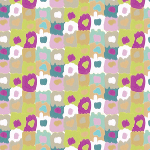 Sober Painted Squares with Dots Subtle Pallete