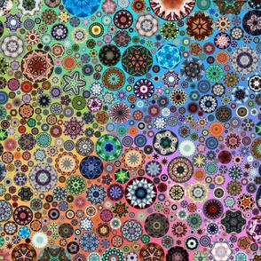 Kaleidoscope Circles II Rainbow