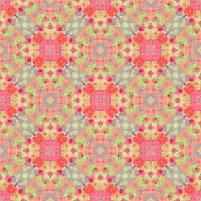 Squares & Hearts Retro Pattern