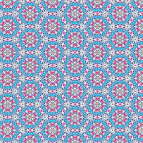 Happy Blue & Pinky Circles Pattern