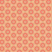 Orange & Peach Circle Flower Pattern