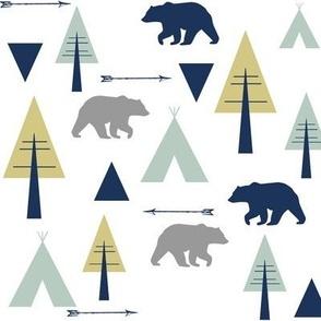 bear camp // glacier lake