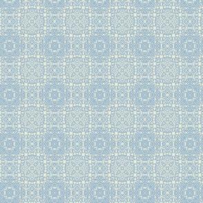 Upholster quilt-lt blue white