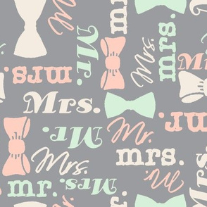 mr and mrs peach and green by Diane Gilbert
