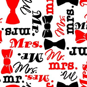 mr and mrs red/black by Diane Gilbert
