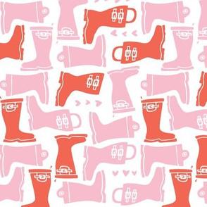 Girly Galoshes - Light Pink