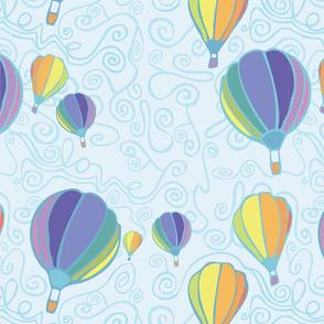 hot air balloon love