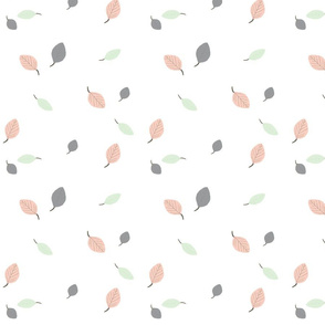 Wedding Fabric 2016 Forest Leaves Cucumber and Peach
