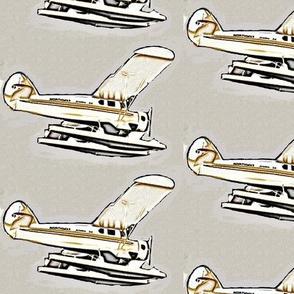 vintage sea-plane sketch