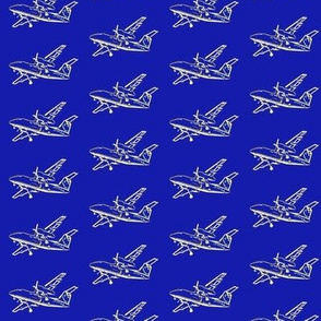 planes - royal blue -smallest