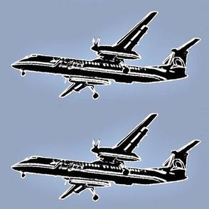 passenger plane - denim