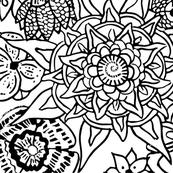 Mandala Love - in Black and White II