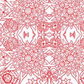 Mandala Love - in Red and White
