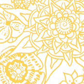 Mandala Love - in Yellow and White-ch
