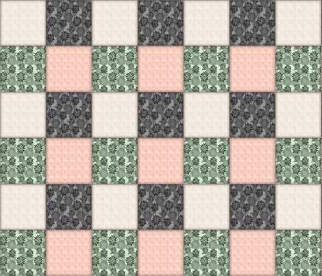 Spring Floral Really Cheating Cheater Quilt