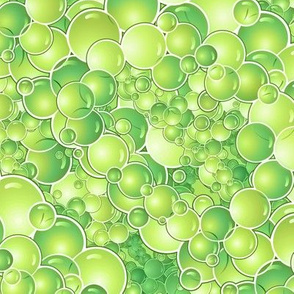 bubbles in chartreuse
