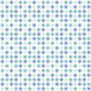 Blue Green Burst Grid